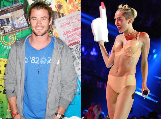 Chris Hemsworth, Miley Cyrus