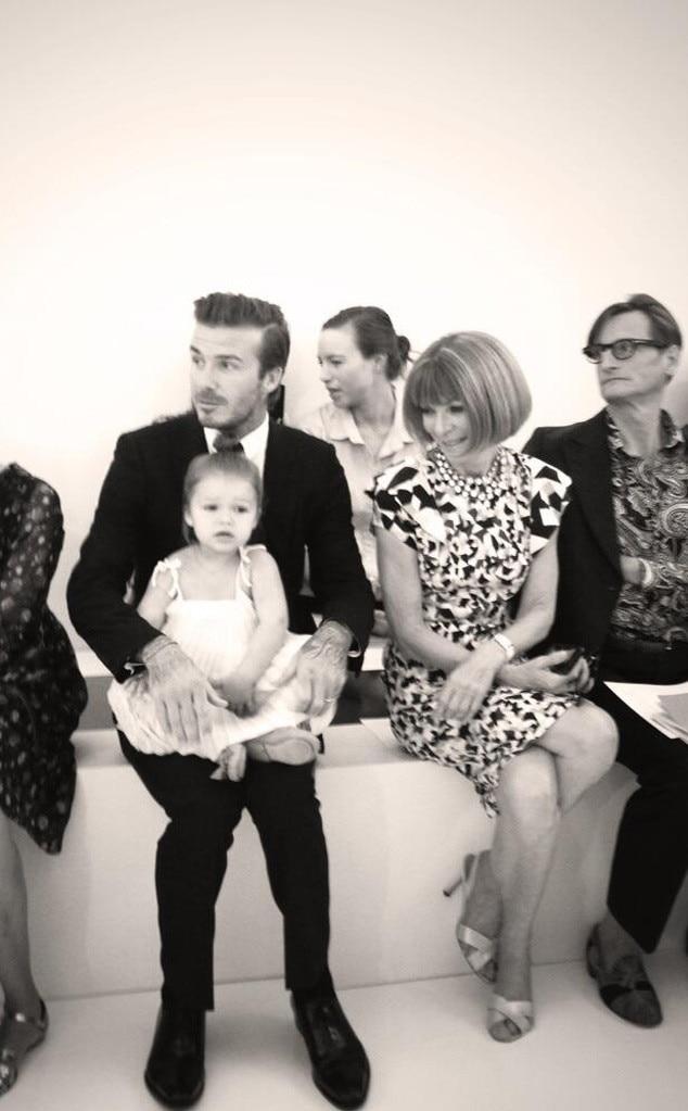 David Beckham, Harper, Anna Wintour