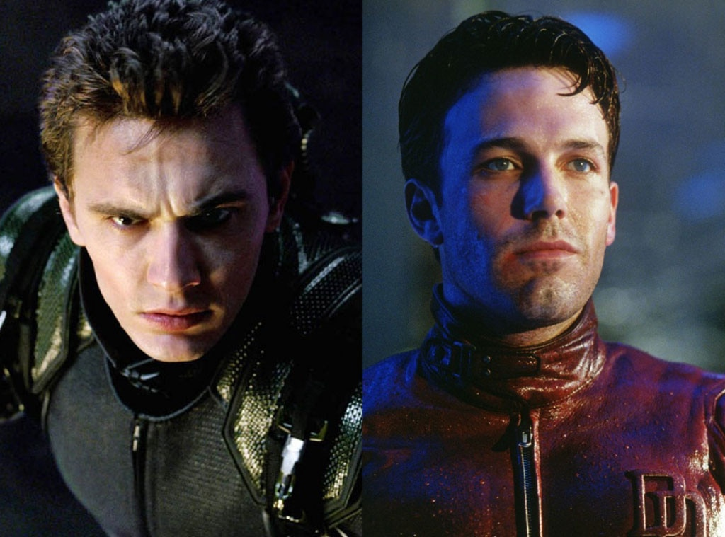 James Franco, Spiderman, Ben Affleck Daredevil