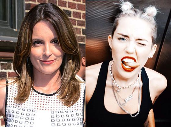 Tina Fey, Miley Cyrus