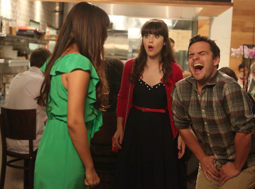 New Girl, Hannah Simone, Jake Johnson, Zooey Deschanel