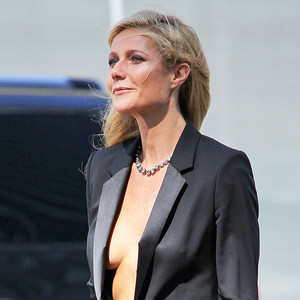 Gwyneth Paltrow Is Naked Under Her Tux Jacket For Sexy