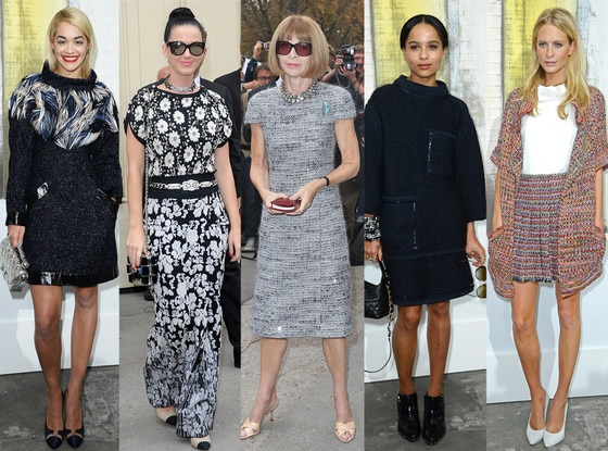 Katy Perry, Rita Ora, Anna Wintour, Zoe Kravitz, Poppy Delevingne, Chanel, Paris Fashion Week