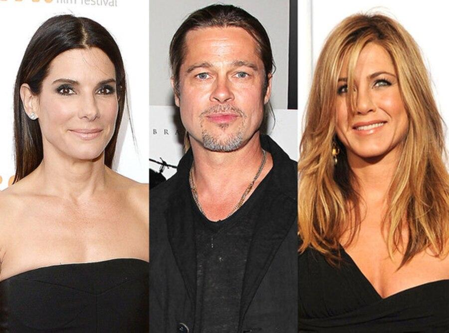 Sandra Bullock, Brad Pitt, Jennifer Aniston