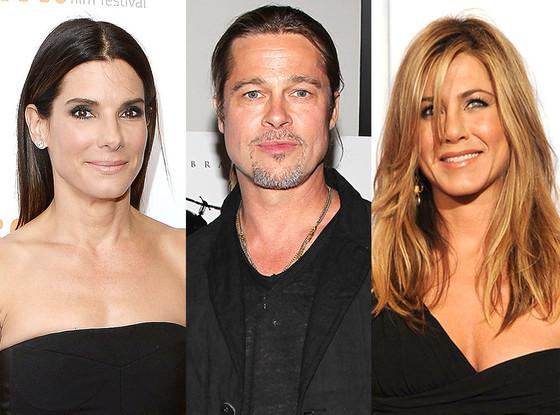 Jennifer Aniston And Brad Pitt 2013 Stars' Firs...