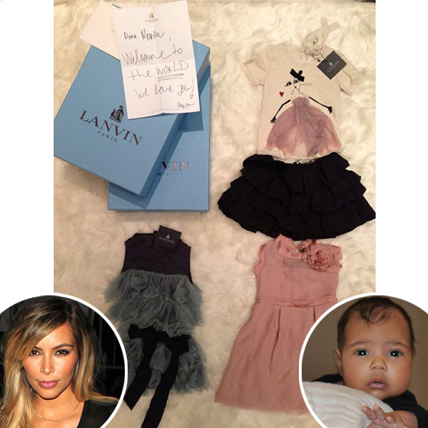 kim kardashian thanks designers for north west u0026 39 s