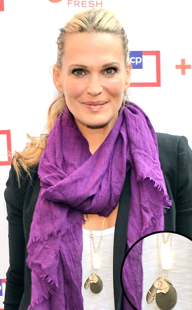 Nameplate Necklaces, Molly Sims