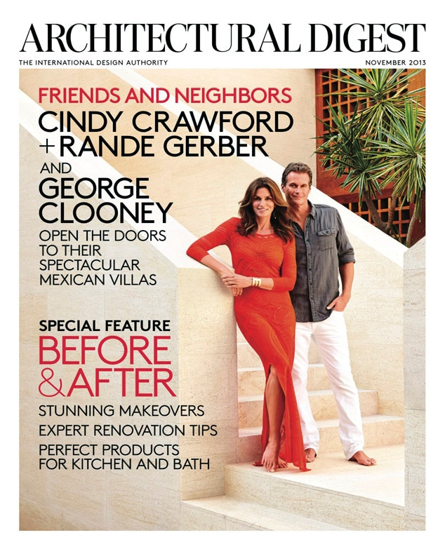Cindy Crawford, Rande Gerber, Architectural Digest