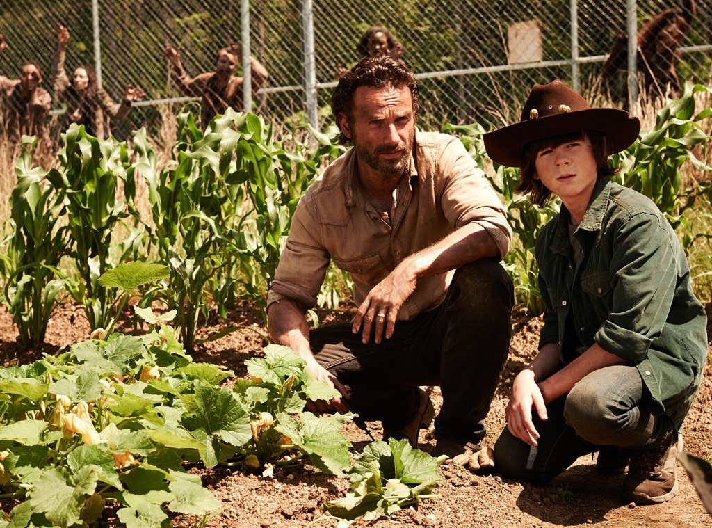 Andrew Lincoln, Chandler Riggs, The Walking Dead