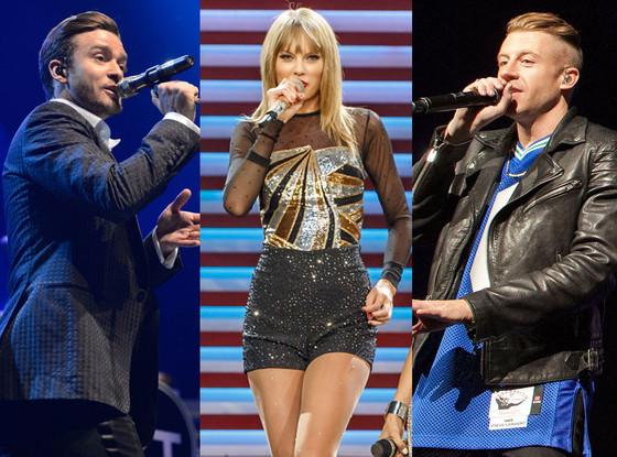 Macklemore & Ryan Lewis, Rihanna, Taylor Swift