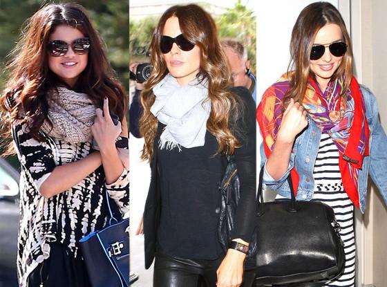 Selena Gomez, Miranda Kerr, Kate Beckinsale, Celeb Scarves