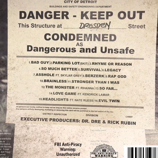 Eminem, Track Listing