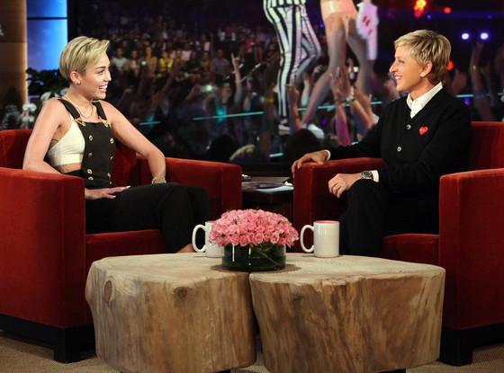 Ellen Degeneres, Miley Cyrus