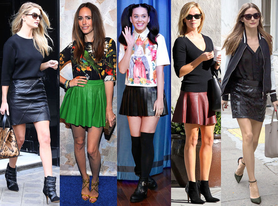Leather Skirt Trend