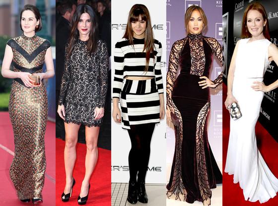 Julianne Moore, Michelle Dockery, Hailee Steinfeld, Sandra Bullock, Jennifer Lopez