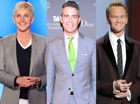 Neil Patrick Harris, Ellen DeGeneres, Andy Cohen, Coming Out Day