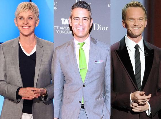 Neil Patrick Harris, Ellen DeGeneres, Andy Cohen, Coming Out Day