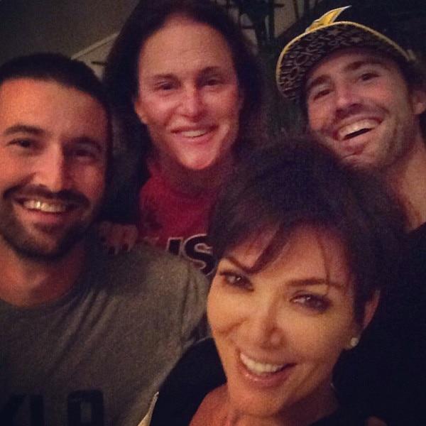 Kris Jenner, Bruce Jenner, Brandon Jenner, Brody Jenner, Instagram