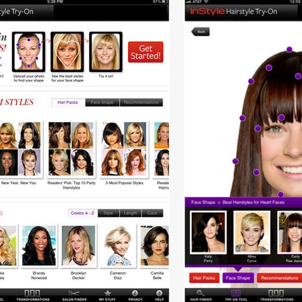 App To Try Hairstyles: InStyle Hairstyle Try-On From Best Trend Apps For IPhone