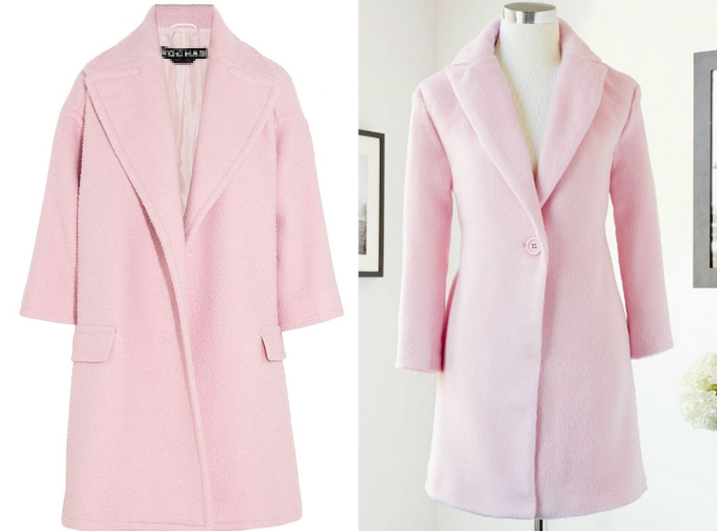 Splurge vs. Steal, Pink Coat Guess