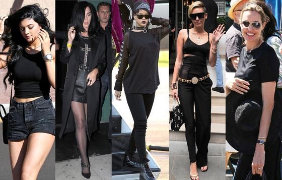 Kylie Jenner, Katy Perry, Rihanna, Miley Cyrus, Angelina Jolie