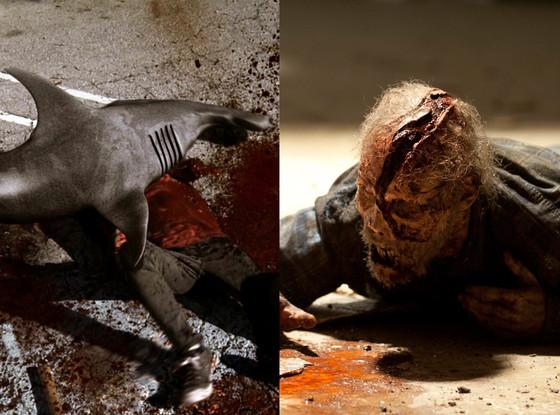 Sharknado, Zombie, The Walking Dead