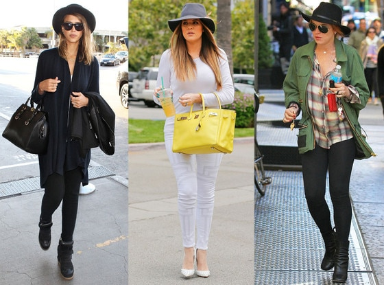 Hats, Lindsay Lohan, Jessica Alba, Khloe Kardashian