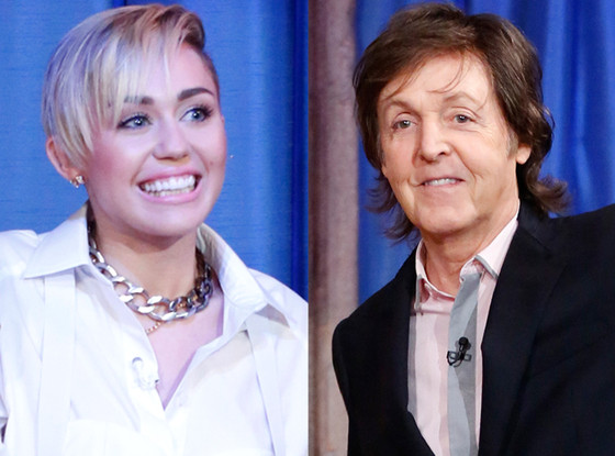 Paul McCartney, Miley Cyrus