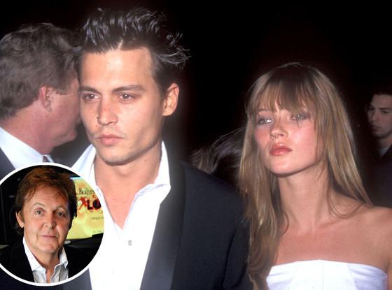 Kate Moss, Johnny Depp, Paul McCartney