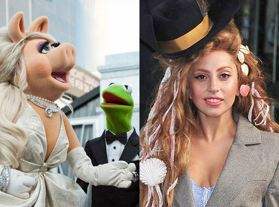 Miss Piggy, Kermit the Frog, Lady Gaga