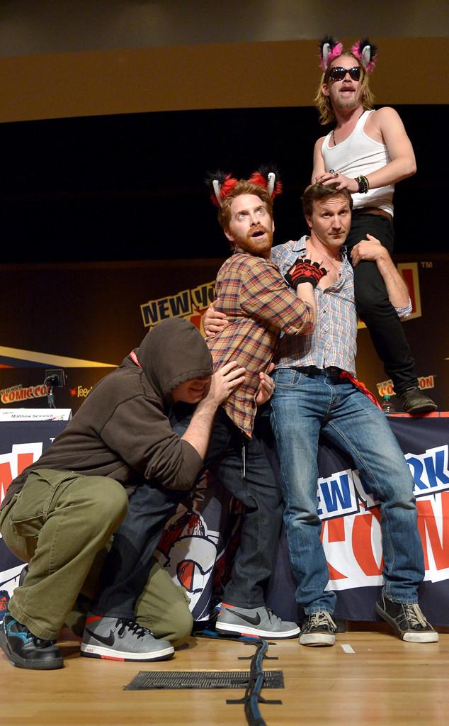 Matthew Senreich, Seth Green, Breckin Meyer, Macaulay Culkin, Comic-Con