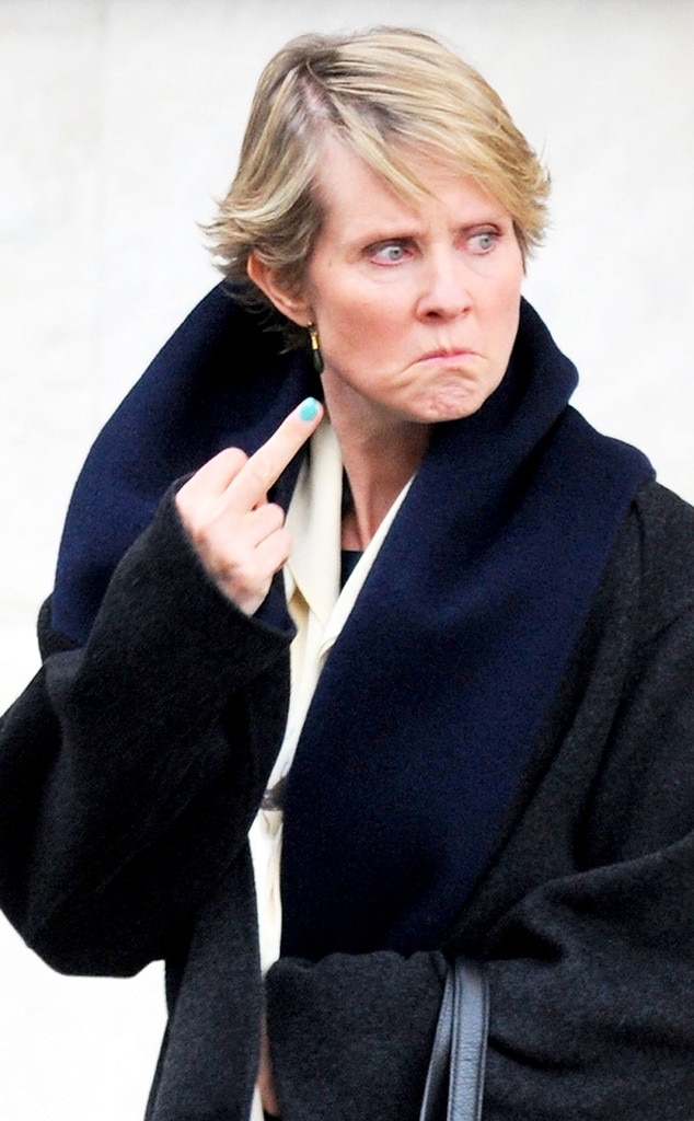 Cynthia Nixon, Flipping the Bird