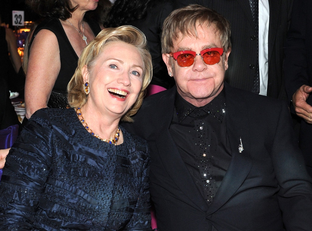 Hillary Rodham Clinton, Sir Elton John
