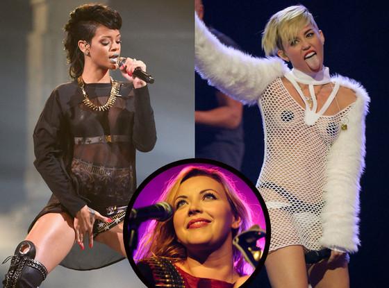 Rihanna, Miley Cyrus, Charlotte Church