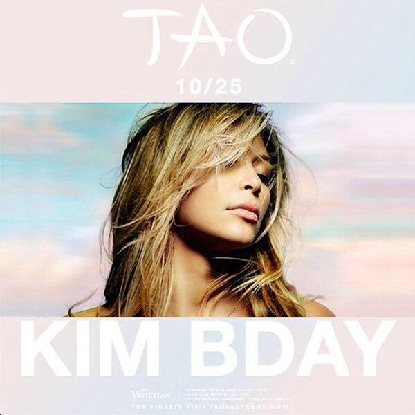 Kim Kardashian, Tao Birthday Instagram
