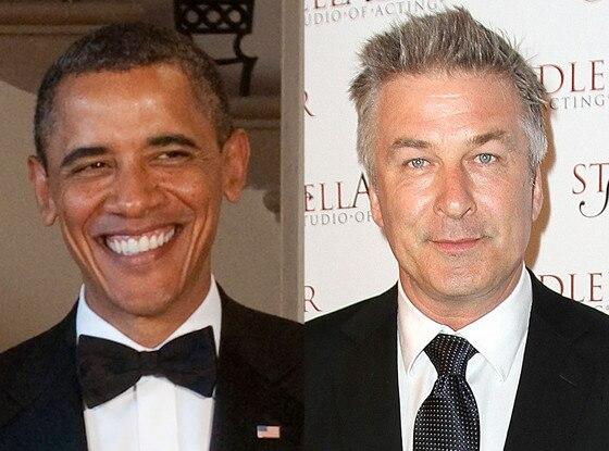 President Barack Obama, Alec Baldwin