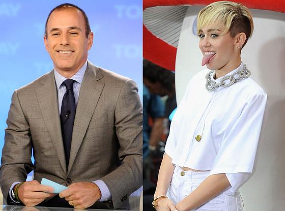 Matt Lauer, Miley Cyrus