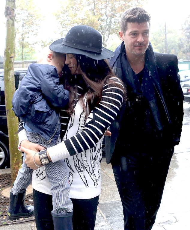 Robin Thicke, Paula Patton, Julian Fuego