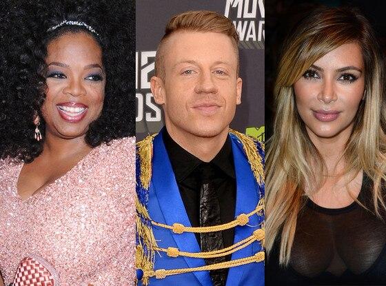 Kim Kardashian, Oprah Winfrey, Mackelmore