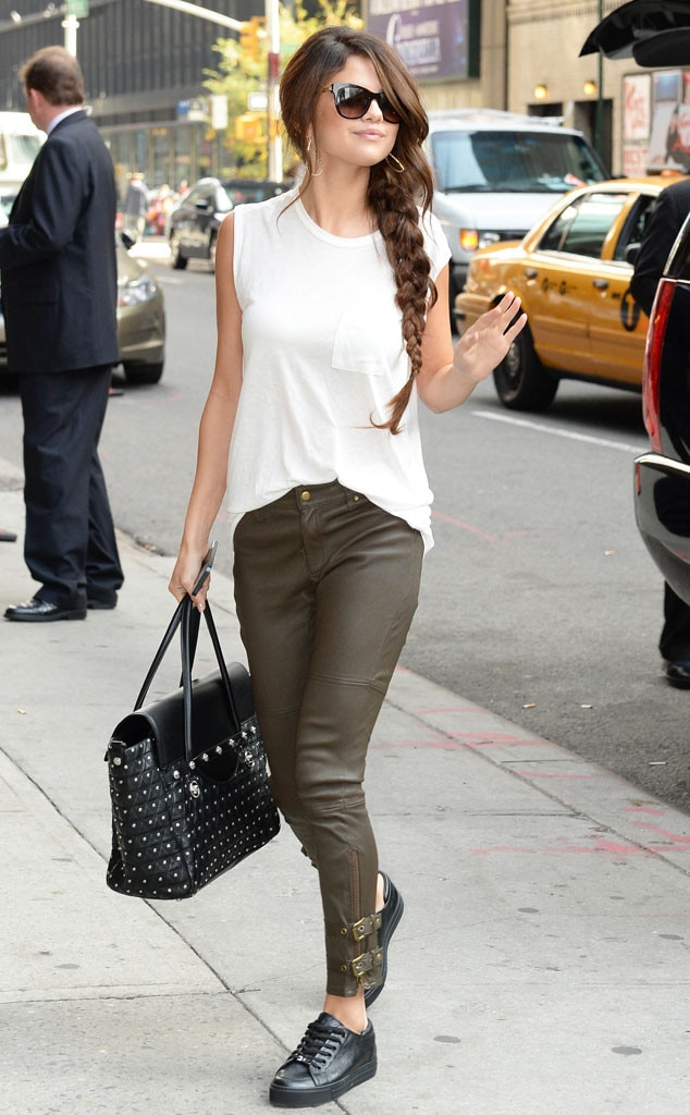 Leather Bottoms From Selena Gomez 39 S Street Style E News