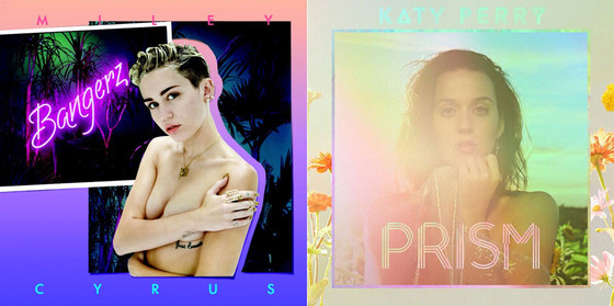 Katy Perry, Prism Album Cover, Miley Cyrus, Bangerz