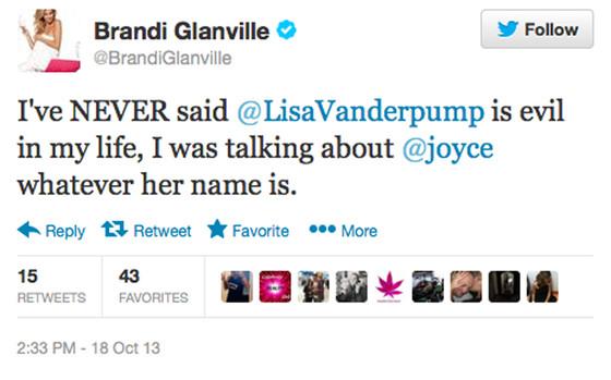 Brandi Glanville, Tweet