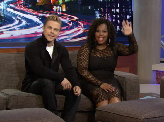 Derek Hough, Amber Riley, Arsenio Hall