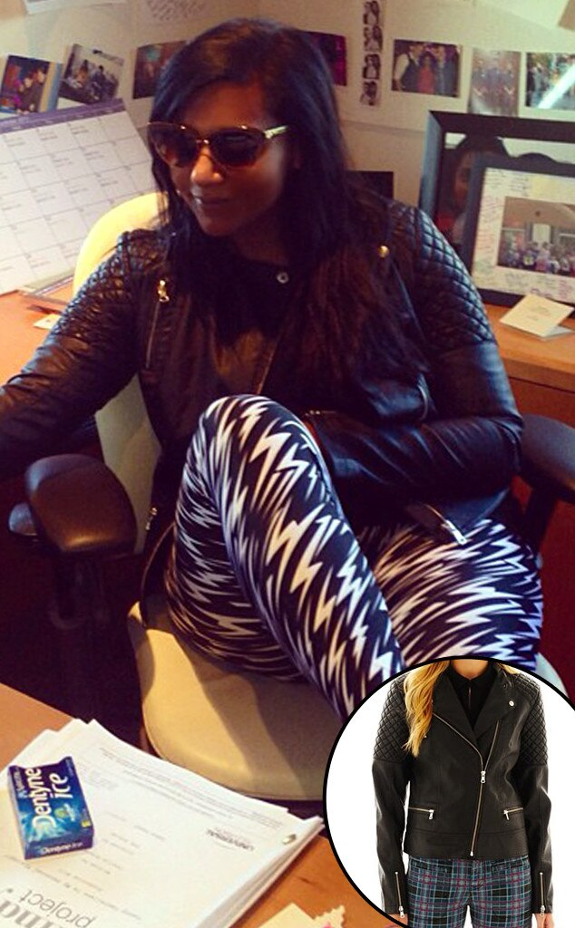 Mindy Kaling, Instagram, I Heart Ronson Jacket