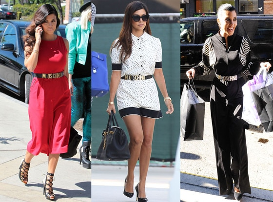 Kourtney Kardashian, Moschino Belt