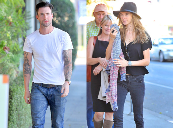 Adam Levine Gets Dinner With Future In-Laws And Fiancée