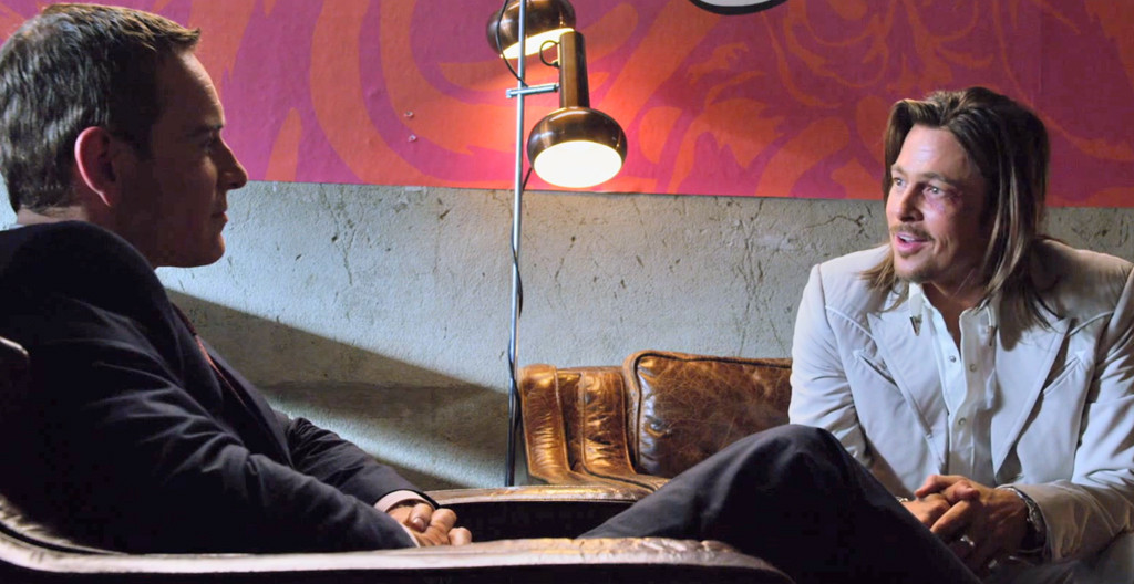 The Counselor, Michael Fassbender, Brad Pitt