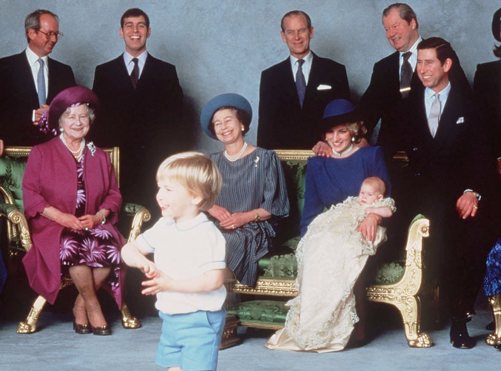 Royal Christening, Prince Harry, Prince William, Princess Diana, Prince Charles, Queen Eliabeth