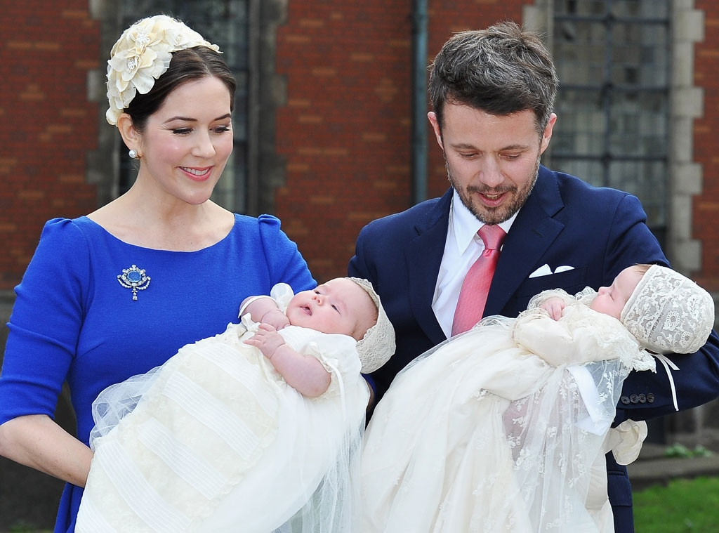 Royal Christening, Crown Princess Mary, Crown Prince Frederik of Denmark, Prince Vincent, Princess Josephine