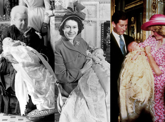 Royal Christening, Queen Victoria, King Edward VIII, Queen Elizabeth II, Prince Charles, Prince William, Princess Diana